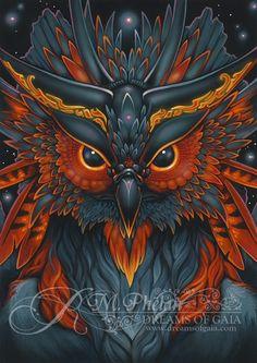 coruja psicodélica - Pesquisa Google