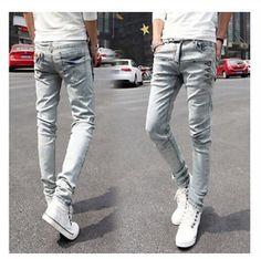 34.03$  Watch now - https://alitems.com/g/1e8d114494b01f4c715516525dc3e8/?i=5&ulp=https%3A%2F%2Fwww.aliexpress.com%2Fitem%2F2015-New-Wholesale-Fashion-Men-s-Stretch-Korean-Slim-Fit-Jeans-Skinny-Pants-Size-27-36%2F32473639553.html - 2016 New Wholesale Fashion Men's Stretch Korean Slim Fit Jeans Skinny Pants Size 27--36 Black Trousers Free Shipping