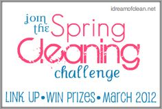Spring Cleaning tips with a link up and prizes like 2 GE Washer/Dryer sets, closet organization system from The Stow Company & a Shark Steam mop!