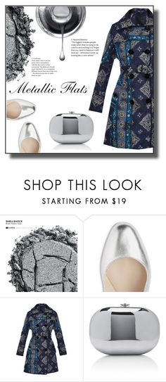 """Metallic Flats"" by gracecar3 ❤ liked on Polyvore featuring Urban Decay, Burberry and Jeffrey Levinson"