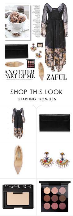 """Zaful 55/4"" by merima-kopic ❤ liked on Polyvore featuring Manolo Blahnik, NARS Cosmetics, MAC Cosmetics and zaful"