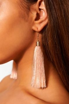Nico Light Pink Tassel Earrings The Fashion Bible dq2IP2R