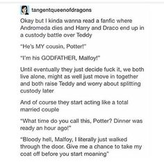 I don't ship Drarry, but this is fucking hilarious!