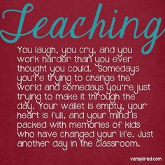 Description of Teaching -- Does this describe you? What motivates you to keep teaching, counseling and caring for students despite the hurdles?  -  BecKyle Lowery -- A Shout Out to My Fellow Teachers