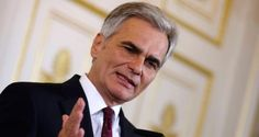 """Austrian chancellor Werner Faymann: """"Sticking refugees in trains and sending them somewhere completely different to where they think they're going reminds us of the darkest chapter of our continent's history."""" Photograph: Heinz-Peter Bader/Reuters  Hungary's migrant policies like Nazi deportations - Faymann Austrian chancellor says Orban's response reminiscent of Europe's 'darkest chapter'"""