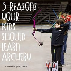 Looking forward to teaching my boys the art of archery this year.  This is a life skill every person should have.