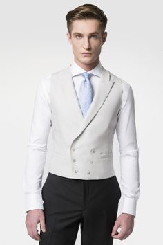 Hackett Linen Double Breasted Waistcoat - Hackett Wedding Morning Suits, Wedding Suits, Western Outfits, Vest Outfits, Cool Outfits, Wedding Waistcoats, Double Breasted Waistcoat, Morning Dress, Men's Waistcoat