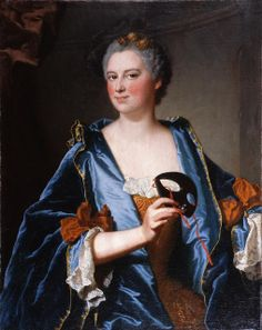 Portrait of Madame Grimond de La Reynière by Rigaud,1734