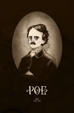Poe Art Print by the wonderfully talented Karl Kwasny. Edgar Allan Poe, Writers And Poets, Collages, Quoth The Raven, Allen Poe, Crows Ravens, Macabre, Illustration, Horror