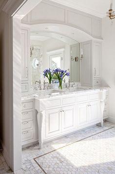 White Bathroom Tile Tempesta Neve Polished Marble Subway