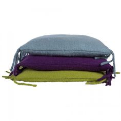 Lambswool cushion blue with fill square - 60 X 60 cm - PTMD