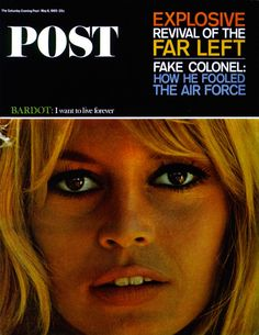 Saturday Evening Post 1965 -  Brigitte Bardot