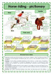 English teaching worksheets: Horse riding
