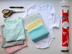 How to Make a Fabric Applique and Add it to a Baby Onesie : Home_improvement : DIY