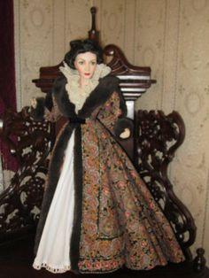 Scarlett Paisley Dressing Gown Franklin Mint $500 Porcelain Doll Excellent COA | eBay