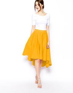 ASOS+Midi+Skirt+in+Scuba+with+Dipped+Hem