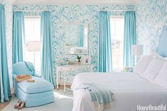 Calming Light Blue Bedroom #color