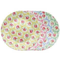 Cath Kidston - Provence Rose Set of 4 Side Plates Cath Kidston Kitchen, Small American Kitchens, Provence Rose, Cute Kitchen, Kitchen Stuff, Rose Decor, Pink Room, Side Plates, China Patterns