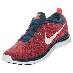 the best attitude b5c02 6d485 Mens Nike Flyknit Lunar 1 Squadron Blue Bright Crimson 554887 461. Nike  Flyknit Lunar 1Running Shoes ...