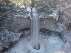 A wintery scene at Fall Creek Falls State Park