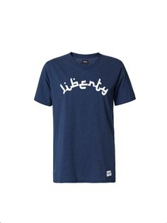 A Question Of - Organic Cotton Liberty  T-shirt Navy Blue