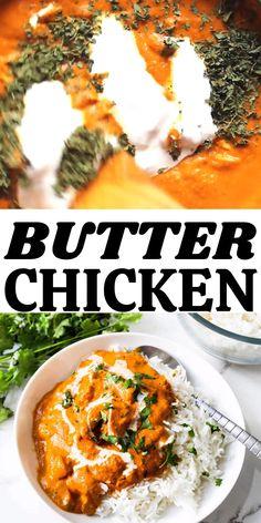 Indian Butter Chicken, Easy Butter Chicken Recipe, Easy Chicken Recipes, Indian Chicken Curry, Chicken Butter Masala, Tandoori Chicken Recipe Oven, Chicken Curry With Rice, Tandoori Masala Recipe, Chicken Tandoori Masala