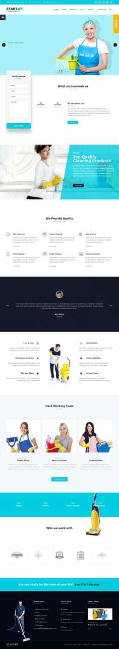 StartUp - Basic Business HTML5 & CSS3 Template. It comes with 6 stunning demos homepage. Build with a #Cleaning #Company in mind, StartUp allows you to create a functional and easy to work with #website.