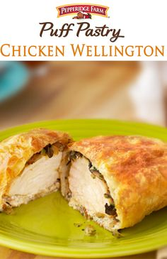 This fabulous Chicken Wellington is a variation of the classic beef Wellington. Kick-up your dinner routine with this stunning entrée staring boneless chicken breasts topped with a mushroom-onion mix and wrapped in tender Puff Pastry.