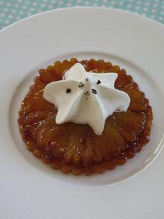 Tartelette tatin à l'ananas, aux épices douces