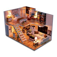 Doll House Miniature Dollhouse With Furniture Kit Wooden House Miniaturas Toys F. Doll House Miniature Dollhouse With Furniture Kit Wooden House Miniaturas Toys For Children New Yea