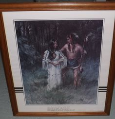 VEL MILLER Color Lithograph Native American by TimeNotForgotten
