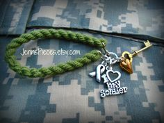 BRACELET:  I Love my Soldier boot band blouser bracelet SSG51 Army navy air force Marines National Guard usmc usaf usn sailor military arng by Jennspieces on Etsy
