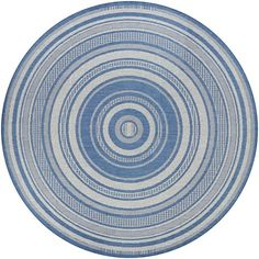 Found it at AllModern - Anguila Stripe Blue/Gray Indoor/Outdoor Area Rug