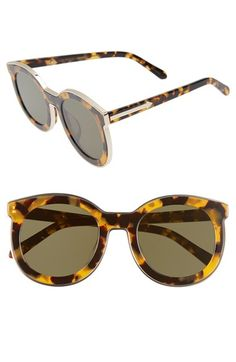 Free shipping and returns on Karen Walker Alternative Fit Super Spaceship - Arrowed by Karen 50mm Sunglasses at Nordstrom.com. Completely flat lenses and polished rose-goldtone encasing add to the fun, funky aesthetic of glare-reducing sunglasses inspired by '80s-era photos of a secret military base in the Soviet Union. These sunglasses feature high nose pads to prevent the frames from sliding or resting on the cheeks and are best suited to a shallower nose bridge.