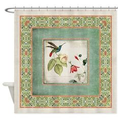 Chinoiserie Hummingbird n Exotic Fl Shower Curtain on CafePress.com