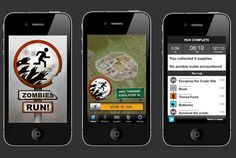 Zombies, Run! 1/2/3 (Six to Start, UK 2012/2013/2013) - workout game with location-based narrative