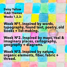Daisy Yellow index-card-a-day week 1 2016 Art Prompts, Journal Prompts, Writing Prompts, Art Journals, Journal Ideas, Doodle Diary, Gelli Printing, Yellow Daisies, Yellow Art