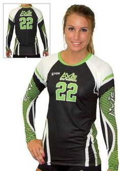 Women's Sublimated Volleyball Jersey Offered in Long Sleeve, Cap Sleeve and Half Sleeve.  Allow 4-6 weeks production time from art approval Design Deposit of $100 This will be applied to your order No Minimums. New orders or add-on orders under 10 pieces. will be charged a flat $50 minimum fee. Add a Solid Color Libero Sublimated Volleyball Jersey at same price For more information call 1-877-878-8327   DESIGN YOUR SUBLIMATED VOLLEYBALL JERSEY HERE  SIZE CHART  FABRIC & TECHNOLOG...