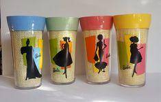 Barbie Full Size Drinking Cups Plastic Tumblers Set of 4 Trudeau Fashion Style #BarbieTrudeau