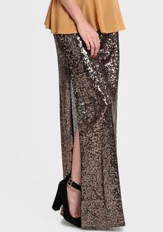 Favorite Things: Sequins » sequin maxi skirt » Lush to Blush  http://lushtoblush.com/favorite-things-sequins/