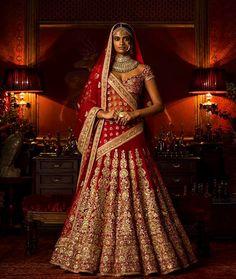 47 Ideas Sabyasachi Bridal Lehenga Brides India For 2019 Indian Lehenga, Sabyasachi Lehenga Bridal, Red Lehenga, Anarkali, Lehanga Bridal, Churidar, Salwar Kameez, Indian Bridal Outfits, Indian Bridal Wear