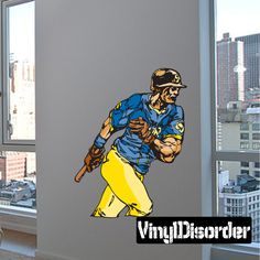 Baseball Wall Decal - Vinyl Sticker - Car Sticker - Die Cut Sticker - CDScolor175