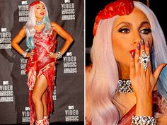 well... happy birthday gaga!! look at you with your meat dress!