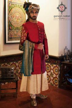 1 vk Groom Outfit, Groom Dress, Men Dress, Mens Sherwani, Wedding Sherwani, Wedding Dress Men, Wedding Suits, Boys Kurta Design, Indian Groom Wear