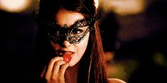 The Vampire Diaries Quote (About gifs, mask, masquerade ball, strawberry)