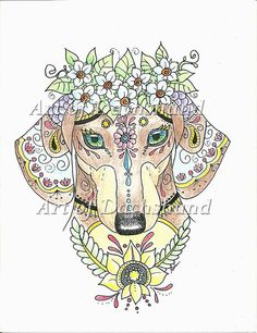 Art of Dachshund Coloring Book  Physical Book  by ArtByEddy