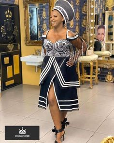African traditional wear Latest South Africa Shweshwe Dresses Fashion In 2020 Why So Many People Are South African Fashion, African Inspired Fashion, Latest African Fashion Dresses, African Print Fashion, Africa Fashion, Xhosa Attire, African Attire, African Dress, South African Traditional Dresses