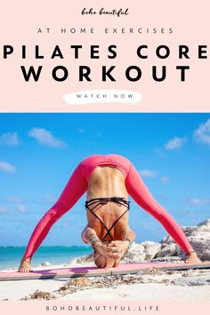 Pilates Video, Pilates For Beginners, Pilates Instructor, Beginner Pilates, Pop Pilates, Pilates Yoga, Beginner Workout At Home, At Home Workout Plan, At Home Workouts