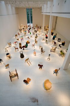100 Chairs in 100 Days Exhibition View
