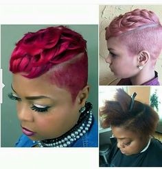 .#haircolor Shaved Side Hairstyles, Undercut Hairstyles, Funky Hairstyles, Pretty Hairstyles, Short Sassy Haircuts, Short Black Hairstyles, Short Hair Cuts For Women, Short Cuts, Hair With Flair